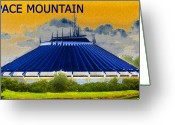 Disney Greeting Cards - Space Mountain Greeting Card by David Lee Thompson