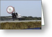 Touchdown Greeting Cards - Space Shuttle Atlantis Unfurls Its Drag Greeting Card by Stocktrek Images