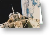 Space Ships Greeting Cards - Space Shuttle Columbia Greeting Card by Science Source