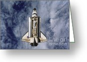 Space Ships Greeting Cards - Space Shuttle Endeavor Greeting Card by Science Source