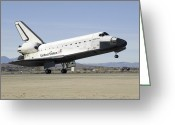 Touchdown Greeting Cards - Space Shuttle Endeavours Main Landing Greeting Card by Stocktrek Images