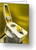 Urinal Greeting Cards - Space Station Toilet Greeting Card by Mark Williamson