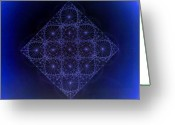 Sacred Geometry Greeting Cards - Space Time Sine Cosine and Tangent Waves Greeting Card by Jason Padgett