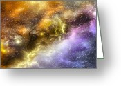 Comet Greeting Cards - Space005 Greeting Card by Svetlana Sewell