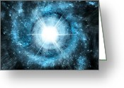 Liquid Greeting Cards - Space006 Greeting Card by Svetlana Sewell