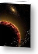 Solar Eclipse Mixed Media Greeting Cards - Space010 Greeting Card by Svetlana Sewell