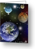 Outerspace Greeting Cards - Space2 Greeting Card by Eileen Blair