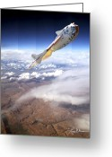 Jet Digital Art Greeting Cards - SpaceShipOne Greeting Card by Larry McManus