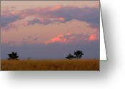 The Lightning Man Greeting Cards - Spacious Skies Amber Waves of Grain ll Boulder County Greeting Card by James Bo Insogna