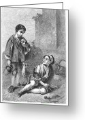 Bartolome Esteban Murillo Greeting Cards - Spain: Beggar Boys Greeting Card by Granger