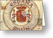 Espana Greeting Cards - Spain Coat of Arms Greeting Card by Debbie DeWitt