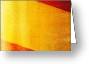Stripes Greeting Cards - Spain flag Greeting Card by Setsiri Silapasuwanchai