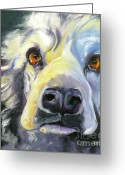Happy Drawings Greeting Cards - Spaniel in Thought Greeting Card by Susan A Becker