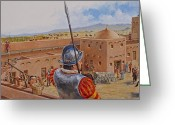Spaniards Greeting Cards - Spanish Fort Greeting Card by Cliff Spohn