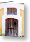 Puerto Rico Greeting Cards - Spanish Fort Door Castillo San Felipe Del Morro San Juan Puerto Rico Prints Greeting Card by Shawn OBrien