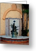 Huisken Greeting Cards - Spanish Fountain Greeting Card by Lyle  Huisken
