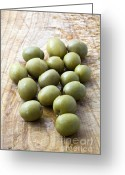 Cuisine Greeting Cards - Spanish Manzanilla Olives Greeting Card by Frank Tschakert