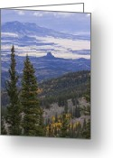 Spanish Peaks Greeting Cards - Spanish Peaks Greeting Card by Charles Warren