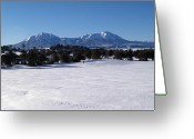Spanish Peaks Greeting Cards - Spanish Peaks Colorado Greeting Card by Bill Hyde