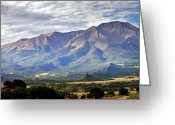 Spanish Peaks Greeting Cards - Spanish Peaks Greeting Card by Daniel  T DuLany