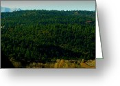 Spanish Peaks Greeting Cards - Spanish Peaks Over Raton Pass Greeting Card by Aaron Burrows