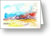 Spanish Peaks Greeting Cards - Spanish Peaks study Greeting Card by Joseph Mora