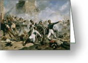 Peninsular Greeting Cards - Spanish uprising against Napoleon in Spain Greeting Card by Joaquin Sorolla y Bastida