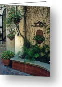 Walls Framed Prints Prints Greeting Cards - Spanish Wall Greeting Card by Kathy Yates