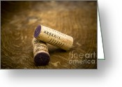 Macro  Greeting Cards - Spanish wine corks - Reserva and Gran Reserva Greeting Card by Frank Tschakert