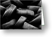 Tire Greeting Cards - Spare Tires Greeting Card by Margherita Wohletz
