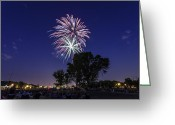Independence Park Greeting Cards - Spark and Bang Greeting Card by CJ Schmit