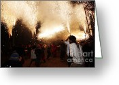Pyrotechnics Greeting Cards - Spark tree Greeting Card by Agusti Pardo Rossello