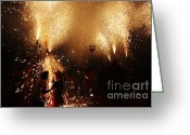 Pyrotechnics Greeting Cards - Sparked Greeting Card by Agusti Pardo Rossello