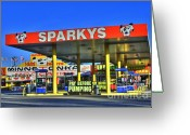 Photographers Ellipse Greeting Cards - Sparkeys Greeting Card by Corky Willis Atlanta Photography