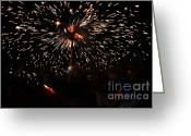 Pyrotechnics Greeting Cards - Sparkling stick Greeting Card by Agusti Pardo Rossello