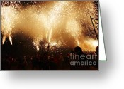 Pyrotechnics Greeting Cards - Sparks rain Greeting Card by Agusti Pardo Rossello