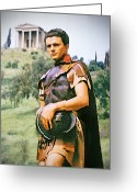 Swordsman Greeting Cards - Spartacus Greeting Card by Chuck Staley