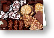 Chocolate Fudge Greeting Cards - Special Delights Greeting Card by Barbara Griffin