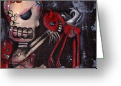 Skull Painting Greeting Cards - Special Friends Greeting Card by  Abril Andrade Griffith