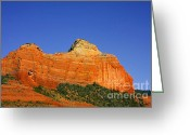 Geologic Formations Greeting Cards - Spectacular red rocks - Sedona AZ Greeting Card by Christine Till