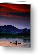 Mohawk Greeting Cards - Spectral Crossing Greeting Card by Neil Shapiro