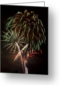 Illuminations Greeting Cards - Spectrum Explodes Greeting Card by Kevin Munro