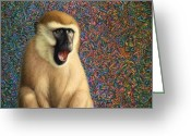 Monkey Greeting Cards - Speechless Greeting Card by James W Johnson