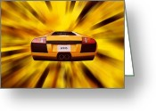 Warp Greeting Cards - Speed Greeting Card by Sharon Lisa Clarke