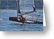 Sailing Fast Greeting Cards - Speed  Greeting Card by Wedigo Ferchland