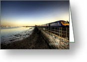 Sea Wall Greeting Cards - Speeding Thro Starcross Greeting Card by Rob Hawkins