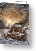 Dilapidated Greeting Cards - Speedwagon Greeting Card by Wayne Stadler