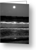 Lunar Greeting Cards - Spell Binding Tides Greeting Card by DigiArt Diaries by Vicky Browning