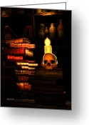 Haunted Greeting Cards - Spells Greeting Card by Bob Orsillo
