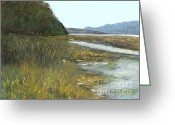 Bay Islands Pastels Greeting Cards - Spencer Tidelands Greeting Card by Ginny Neece